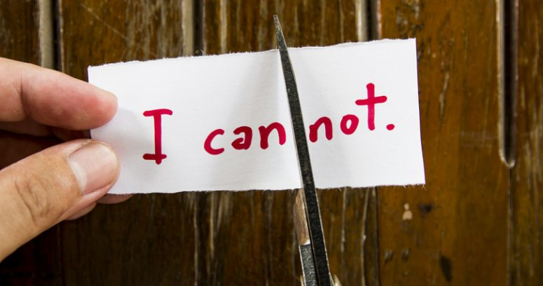 When You Think You Can't..Tell Yourself You Can